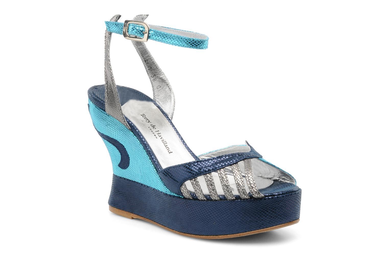 Sandales et nu-pieds Terry de Havilland MARGAUX LOW Bleu vue détail/paire