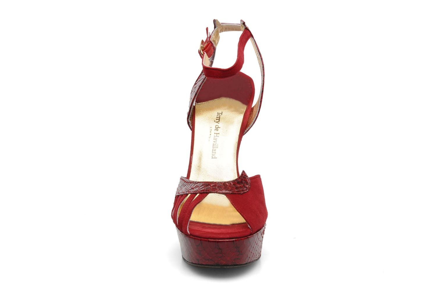 Sandals Terry de Havilland MARGUERITE SNAKE Red model view