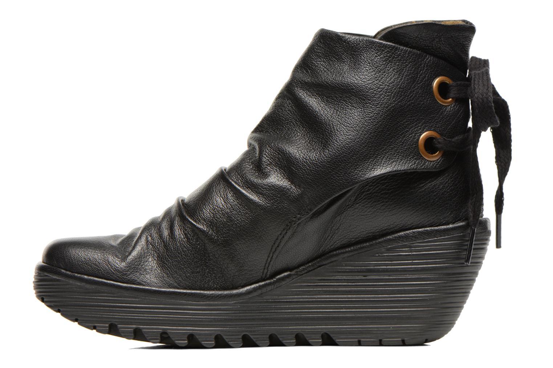 Bottines et boots Fly London Yama Noir vue face