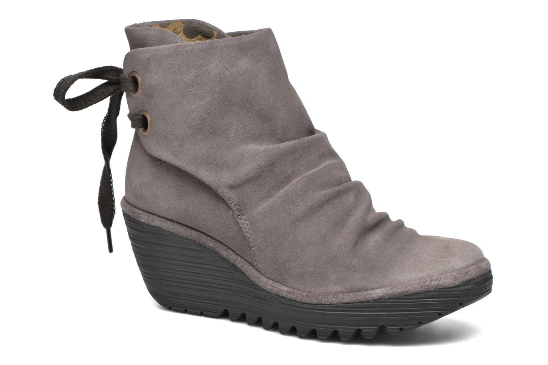Bottines et boots Fly London Yama Gris vue détail/paire