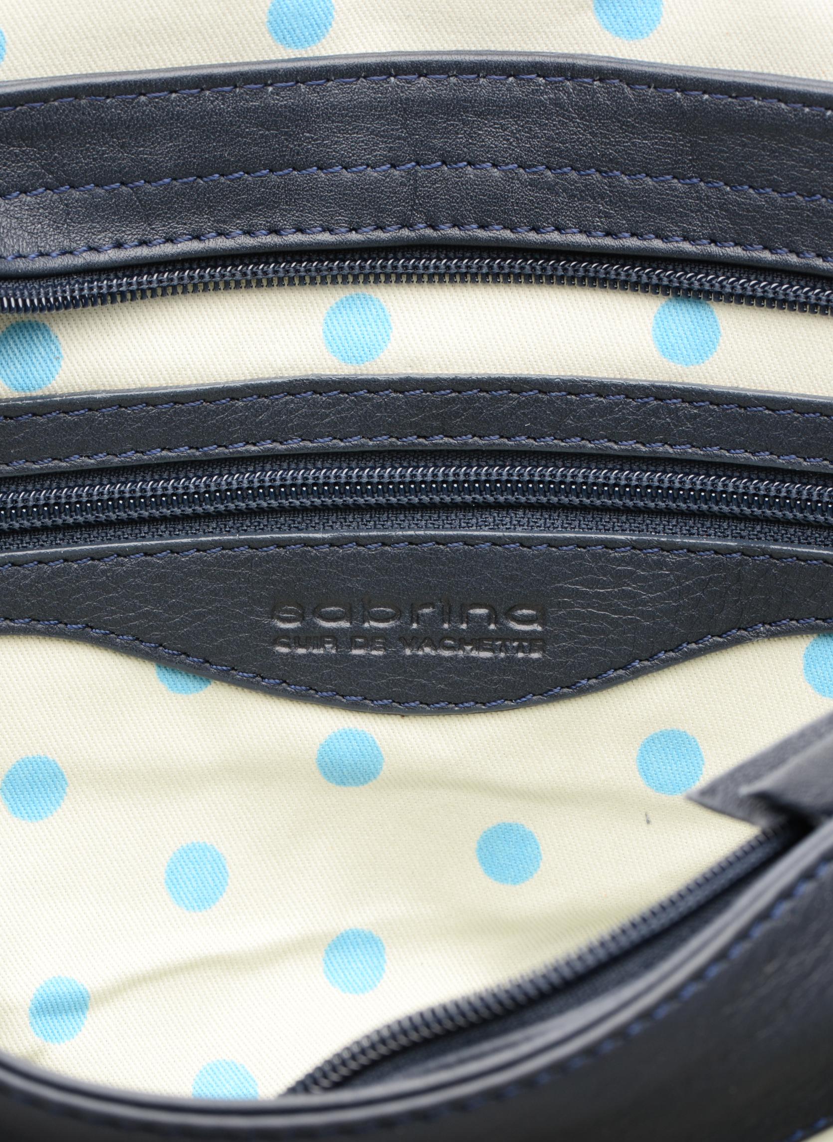 Handtaschen Sabrina Louison blau ansicht von hinten