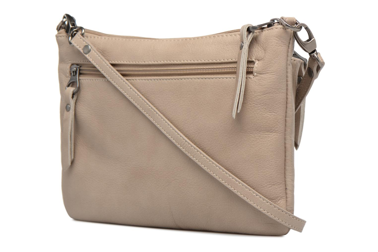 Clutch bags Sabrina Manon Beige view from the right