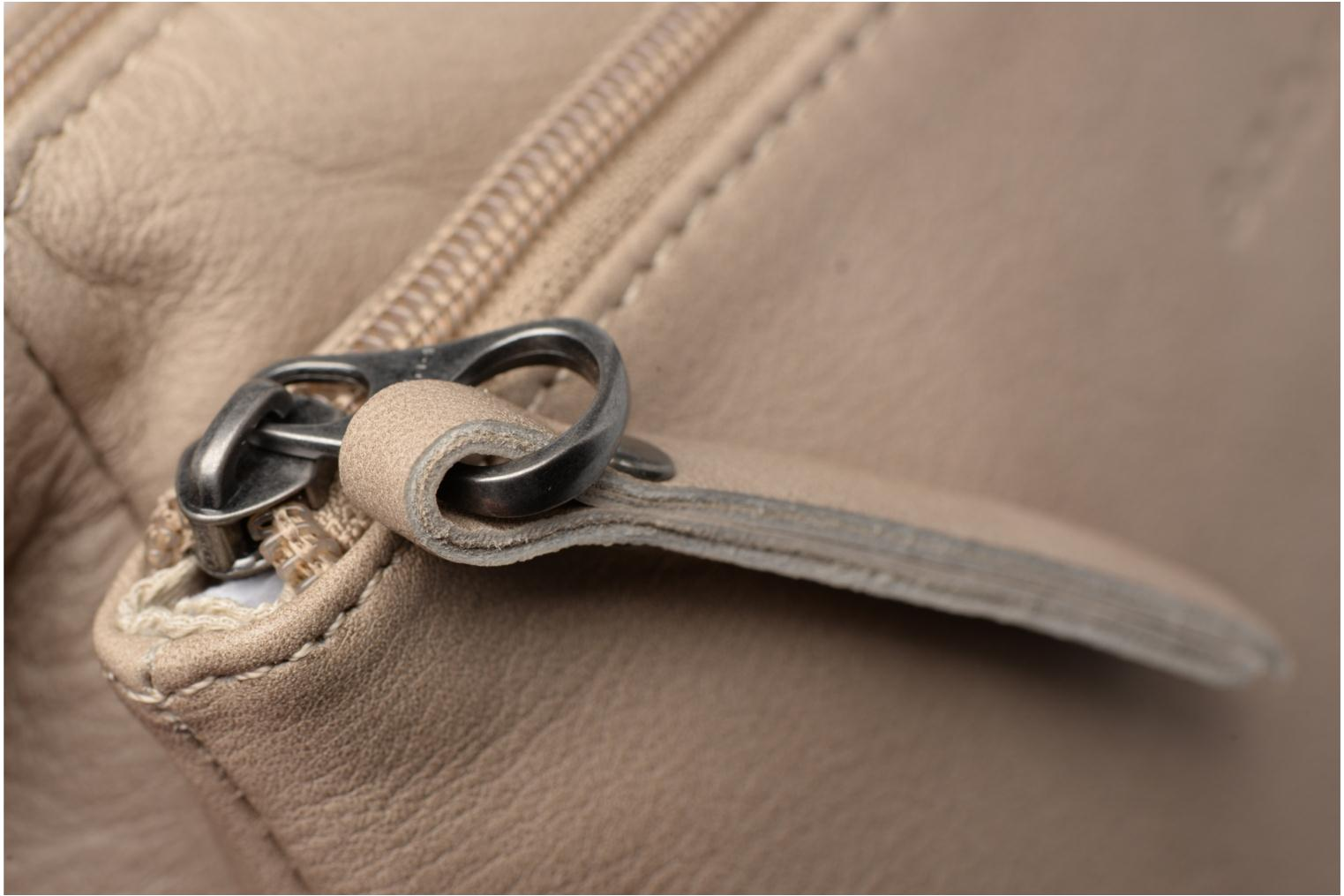 Clutch bags Sabrina Manon Beige view from the left