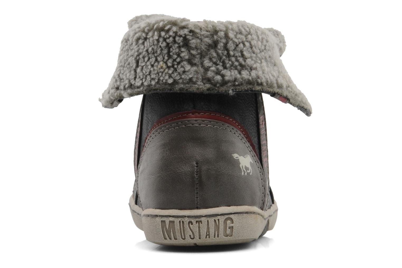 Sneaker Mustang shoes Mukki grau ansicht von rechts