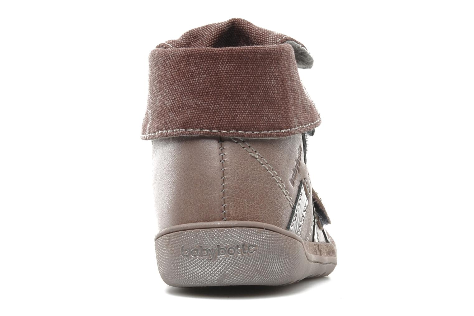 Velcro shoes Babybotte actor F Purple view from the right