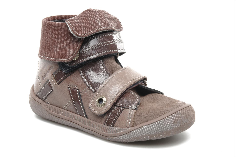 Schoenen met klitteband Babybotte actor F Paars detail