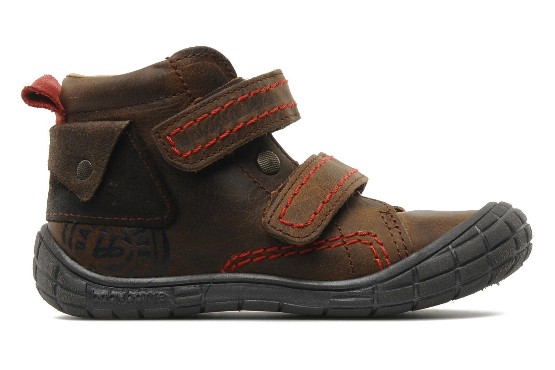 Chaussures à scratch Babybotte Aligator Marron vue derrière