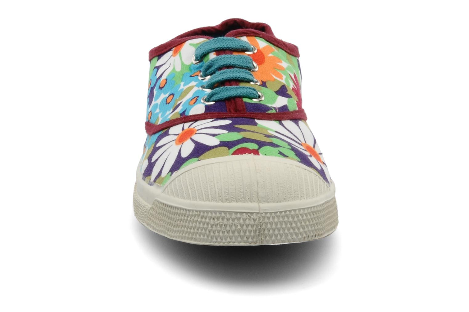 Sneakers Bensimon Tennis Fleurs Exclu Multicolore modello indossato