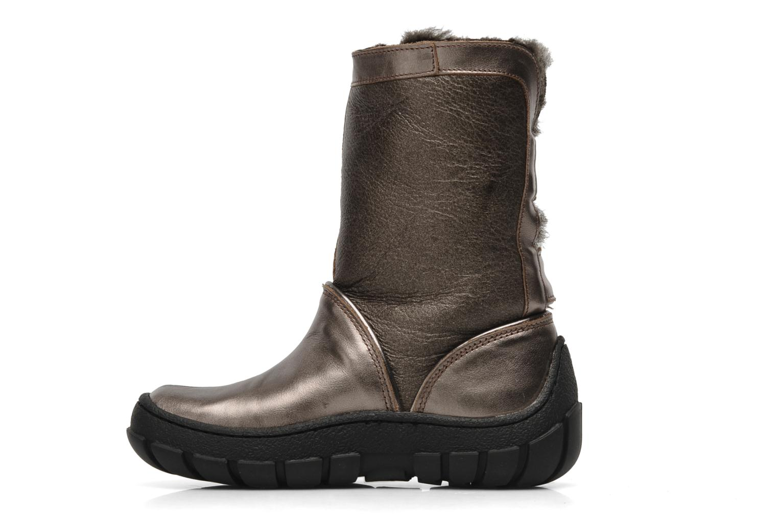 Boots & wellies Pom d Api Piwi chabraque bis Bronze and Gold front view