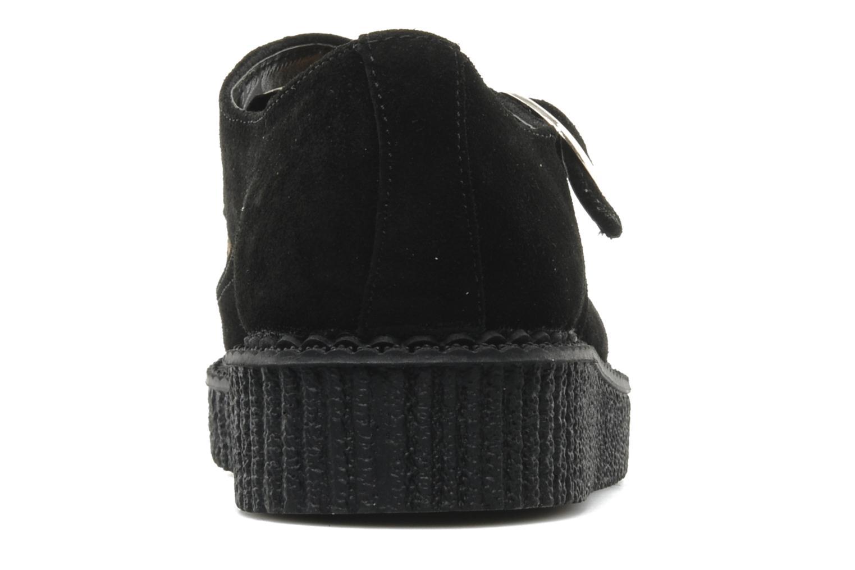Zapatos con cordones T.U.K. Pointed Lo Buccle Negro vista lateral derecha
