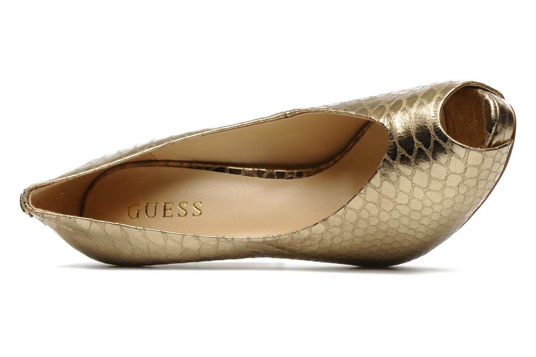 Zapatos de tacón Guess Hytner2 Oro y bronce vista lateral izquierda