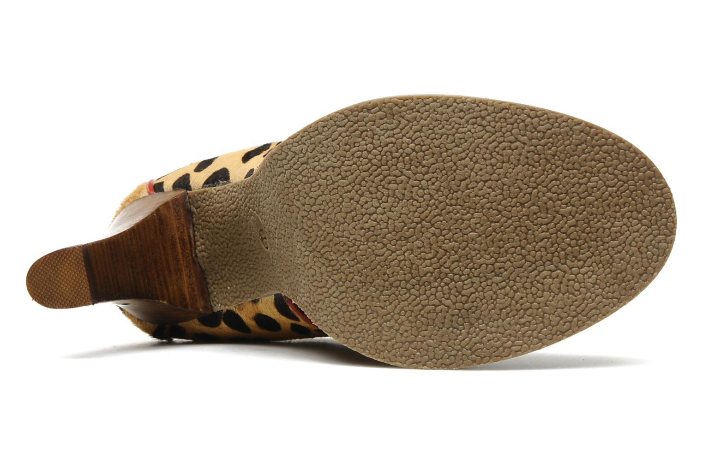 Nabab leopard leather derby Beige