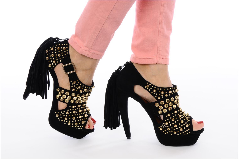 Zapatos de tacón Jeffrey Campbell Pony-Tail Negro vista de abajo