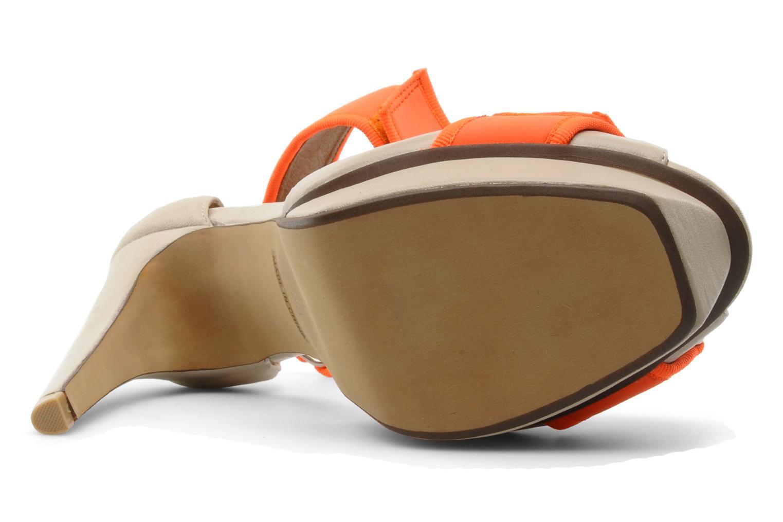 Sandales et nu-pieds Jeffrey Campbell Smoosh Beige vue haut