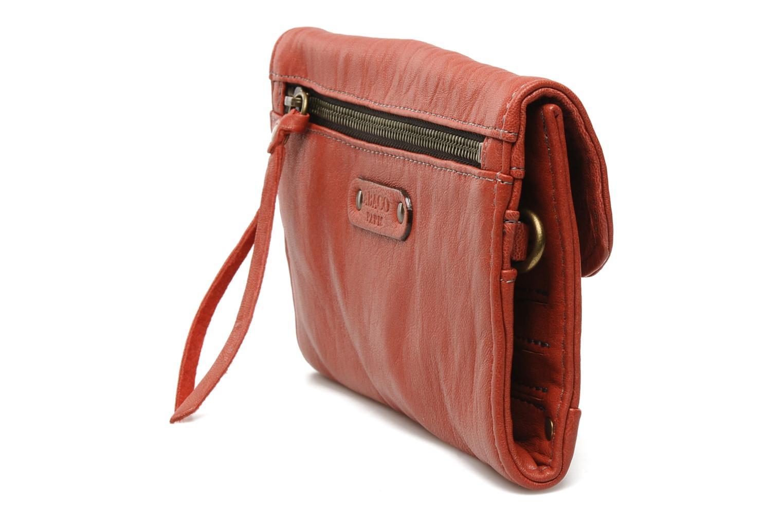 Portemonnaies & Clutches Abaco Simone rot ansicht von rechts