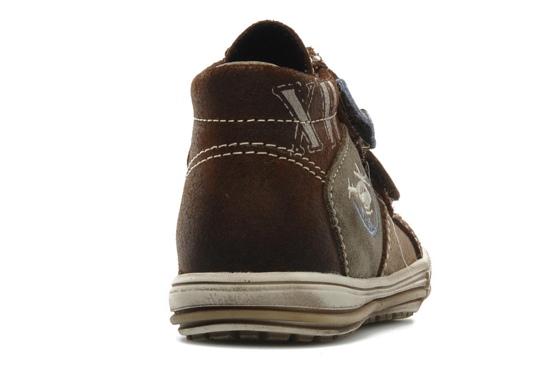 Chaussures à scratch Bopy Belivel Marron vue droite