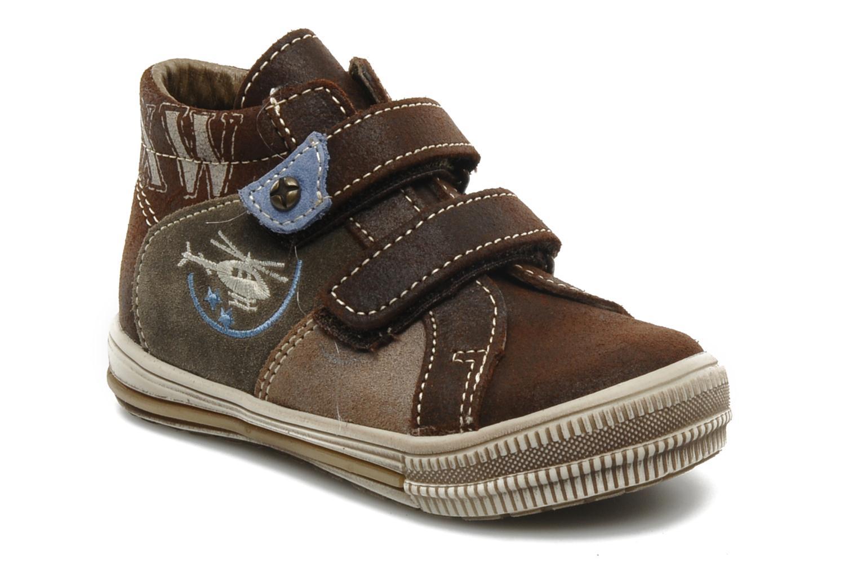 Chaussures à scratch Bopy Belivel Marron vue détail/paire