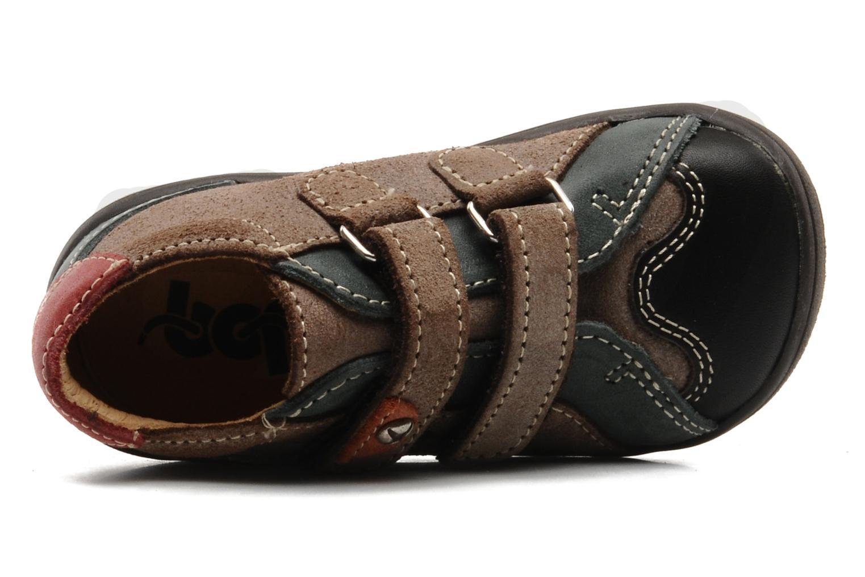 Chaussures à scratch Bopy Zirvel Marron vue gauche