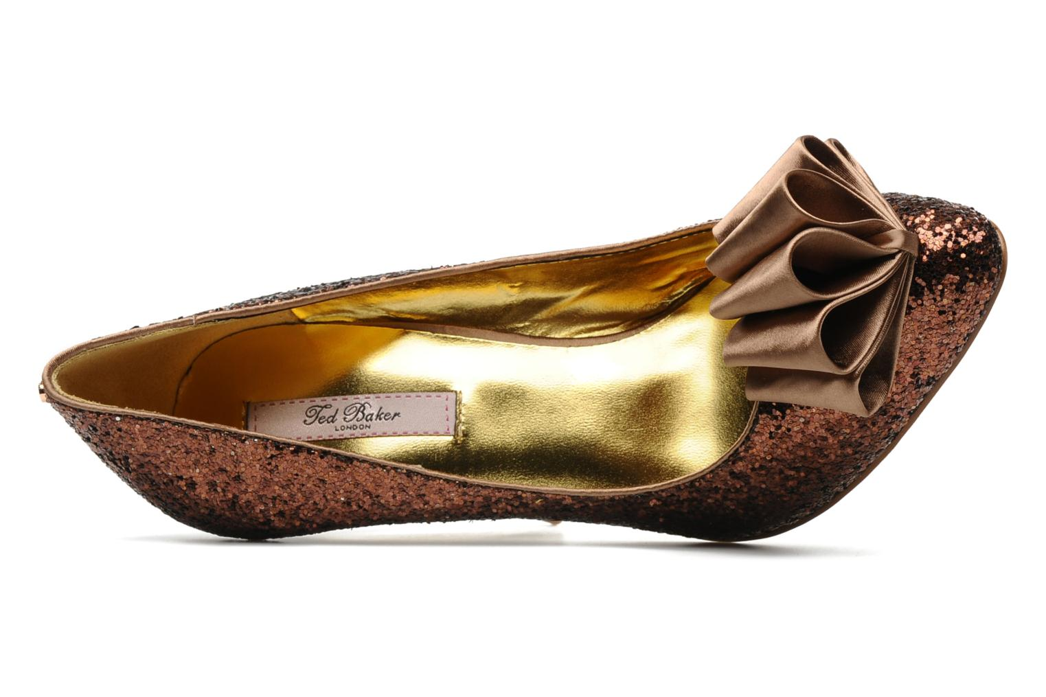 High heels Ted Baker MAYTER Bronze and Gold view from the left