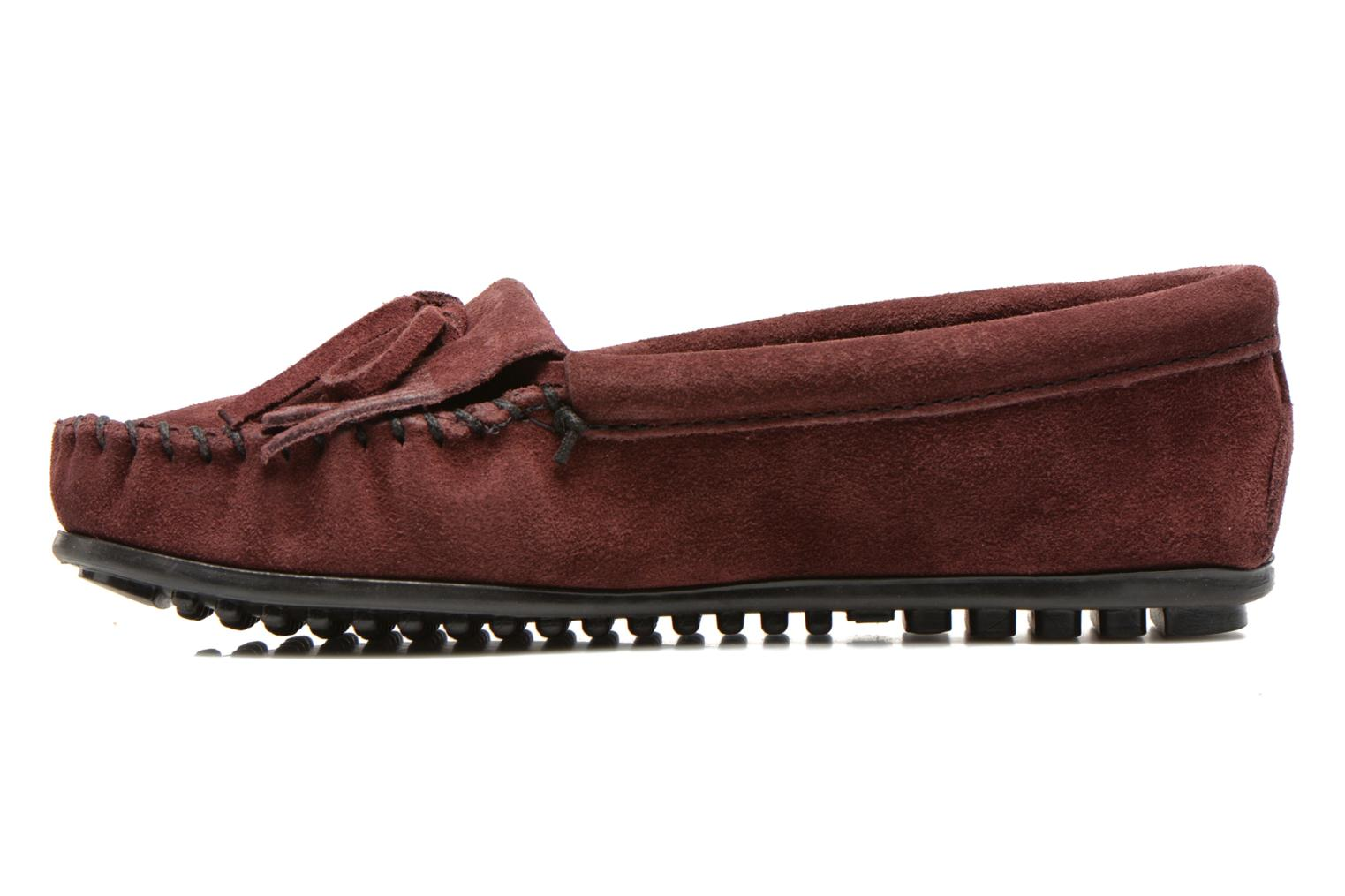 Mocassins Minnetonka KILTY SUEDE MOC Bordeaux vue face