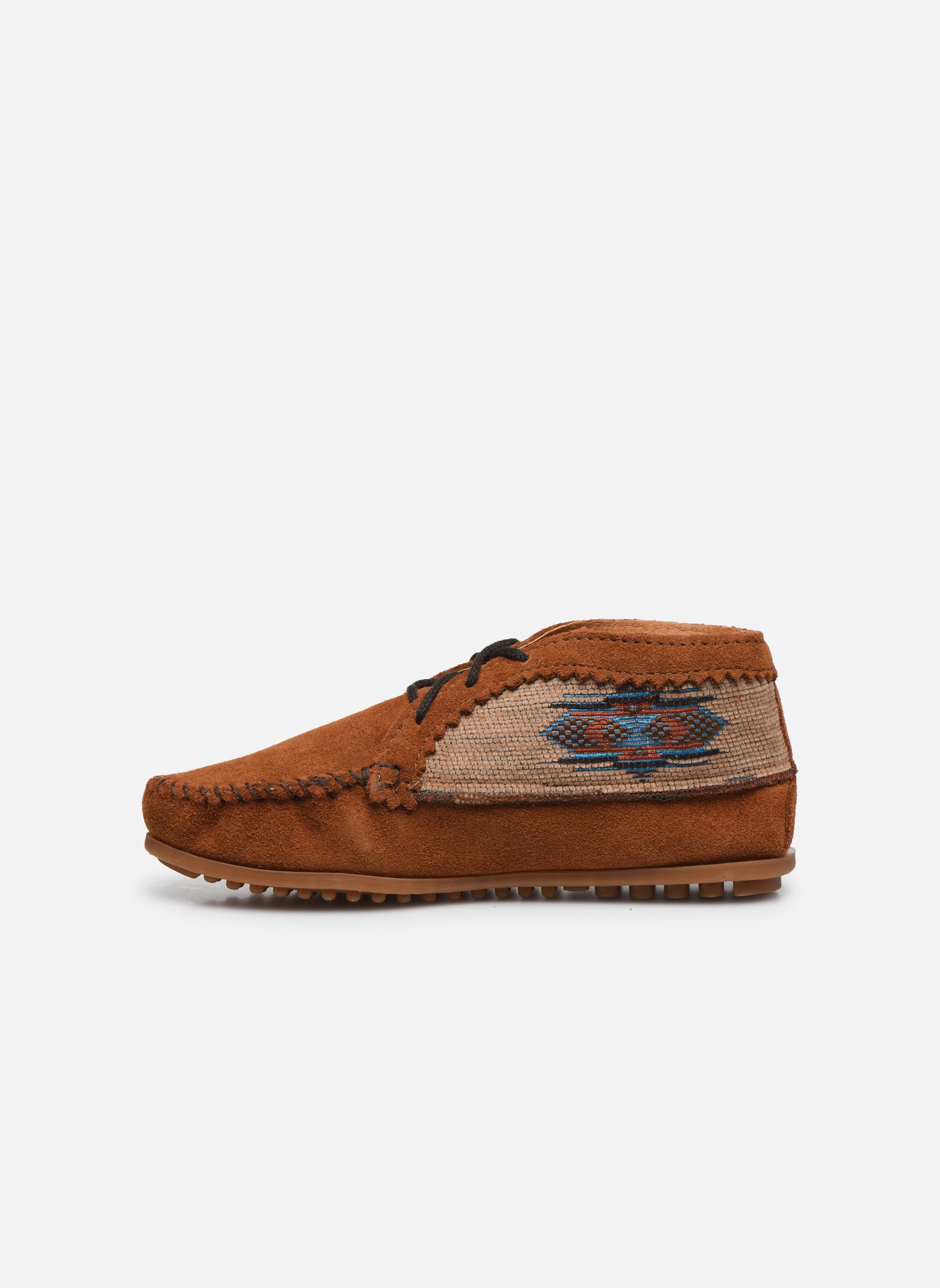 Boots en enkellaarsjes Minnetonka EL PASO ANKLE BOOT Bruin voorkant