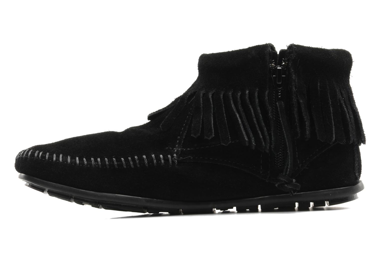 Boots en enkellaarsjes Minnetonka CONCHOFEATHER BT Zwart voorkant