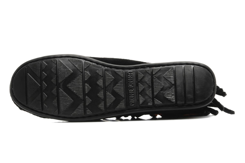 Bottines et boots Minnetonka CONCHOFEATHER BT Noir vue haut