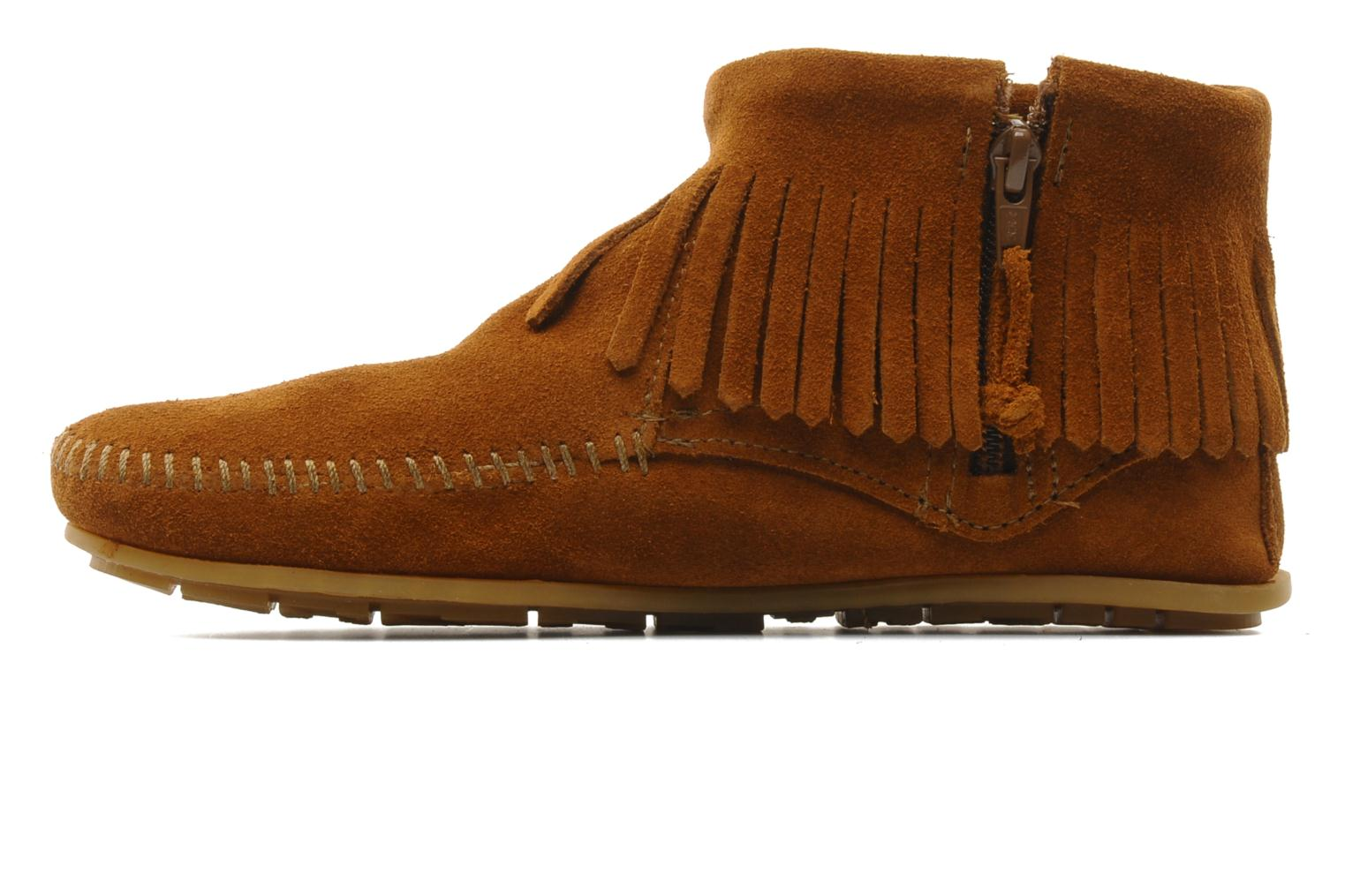 Ankle boots Minnetonka CONCHOFEATHER BT Brown front view