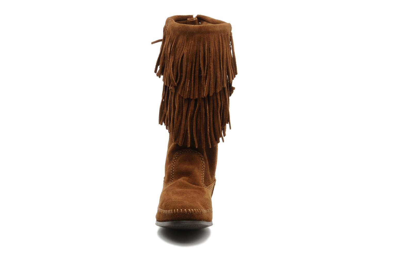 Boots en enkellaarsjes Minnetonka CALF HI 2LAYER FRINGE Bruin model