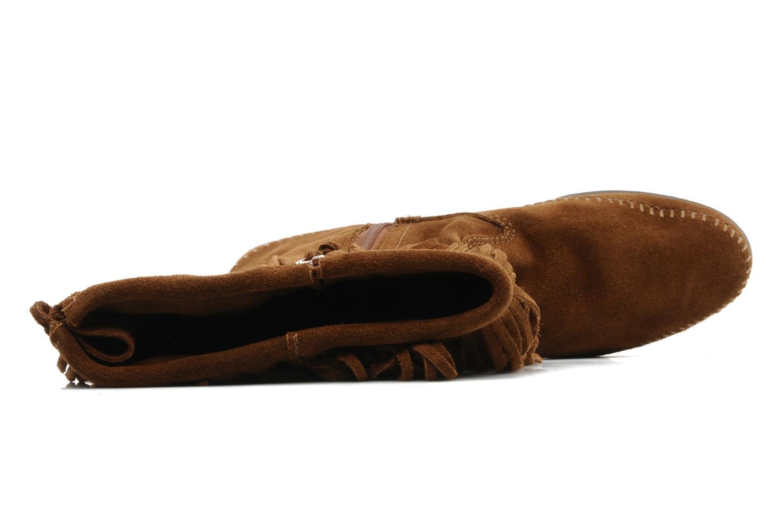 Boots en enkellaarsjes Minnetonka CALF HI 2LAYER FRINGE Bruin links