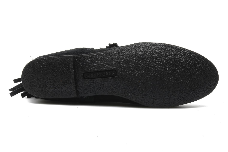 Stiefeletten & Boots Minnetonka 3 LAYER FRINGE BOOT schwarz ansicht von oben
