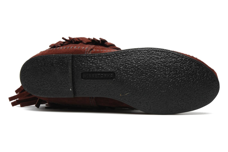 Stiefeletten & Boots Minnetonka 3 LAYER FRINGE BOOT weinrot ansicht von oben