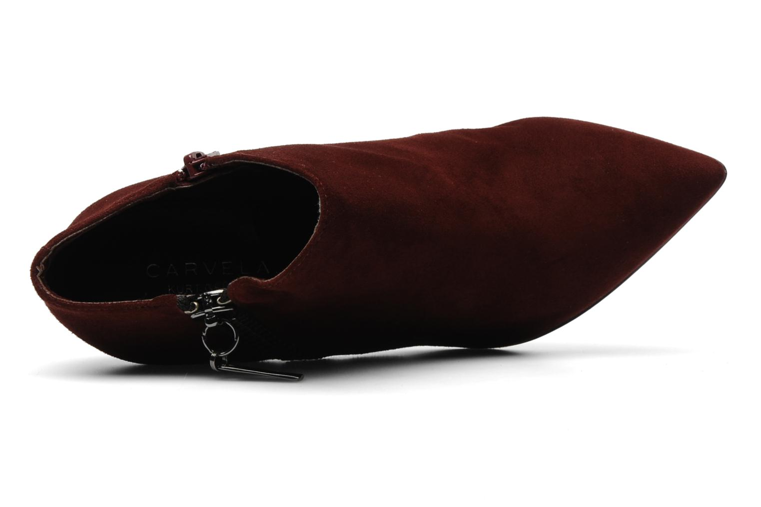 Ankle boots Carvela SAMBA Burgundy view from the left