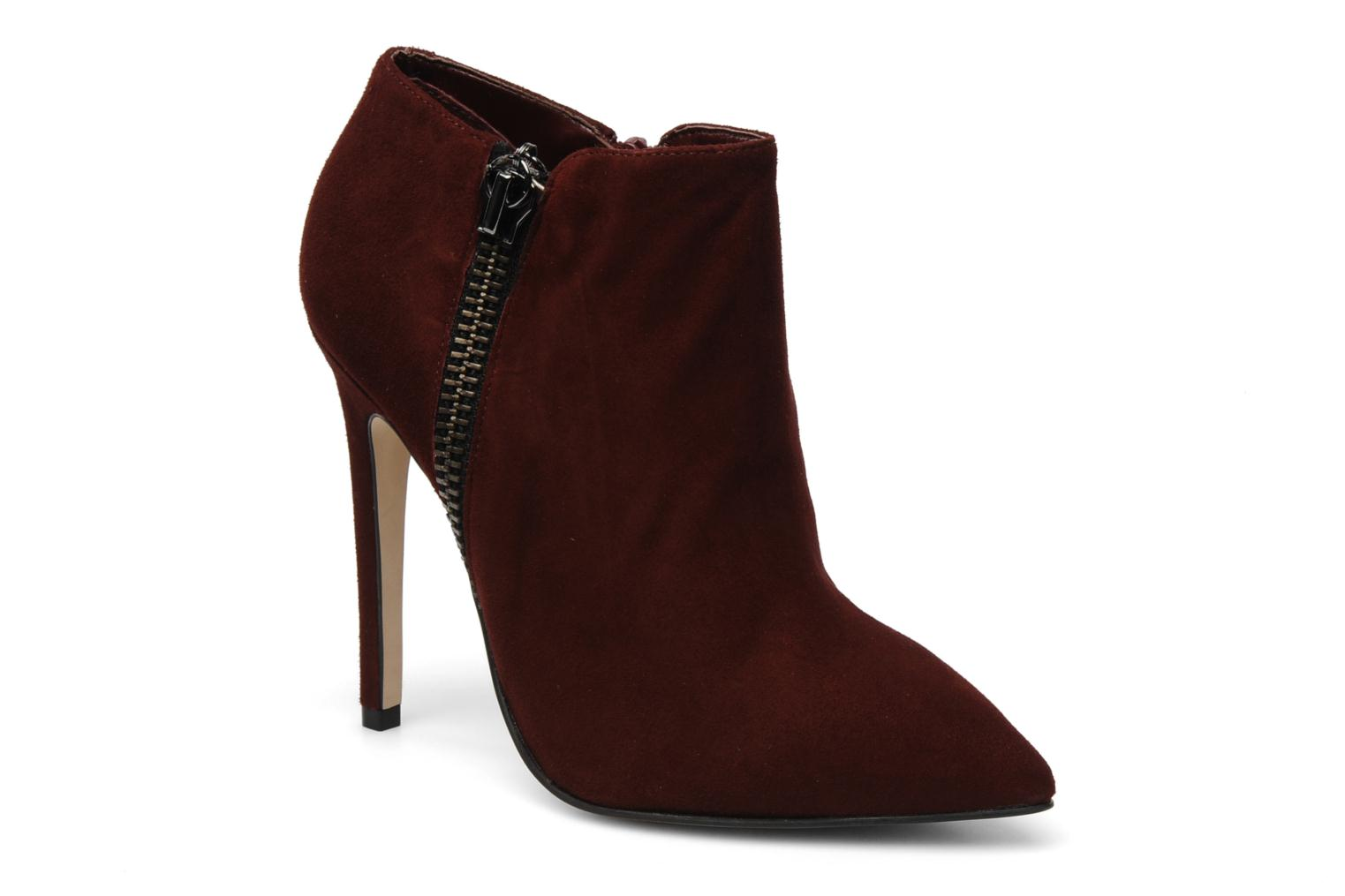 Ankle boots Carvela SAMBA Burgundy detailed view/ Pair view