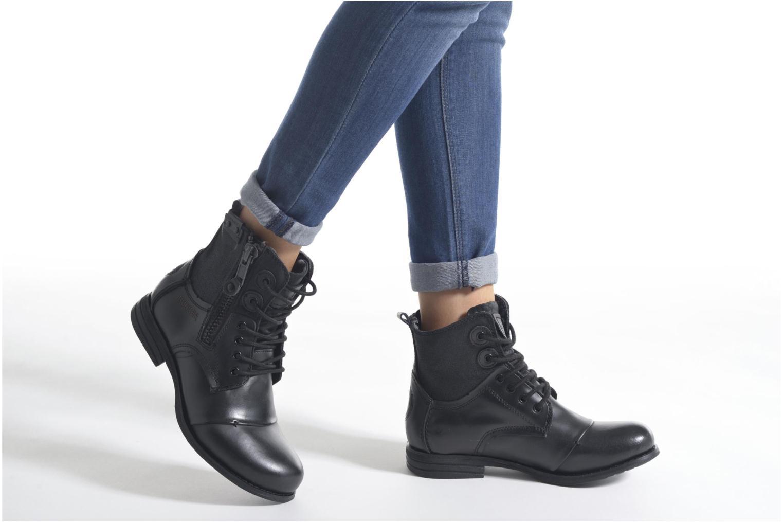 Bottines et boots Bunker Sara zip Noir vue bas / vue portée sac