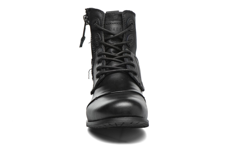Bottines et boots Bunker Sara zip Noir vue portées chaussures
