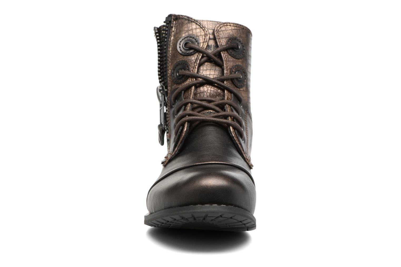 Bottines et boots Bunker Sara zip Or et bronze vue portées chaussures