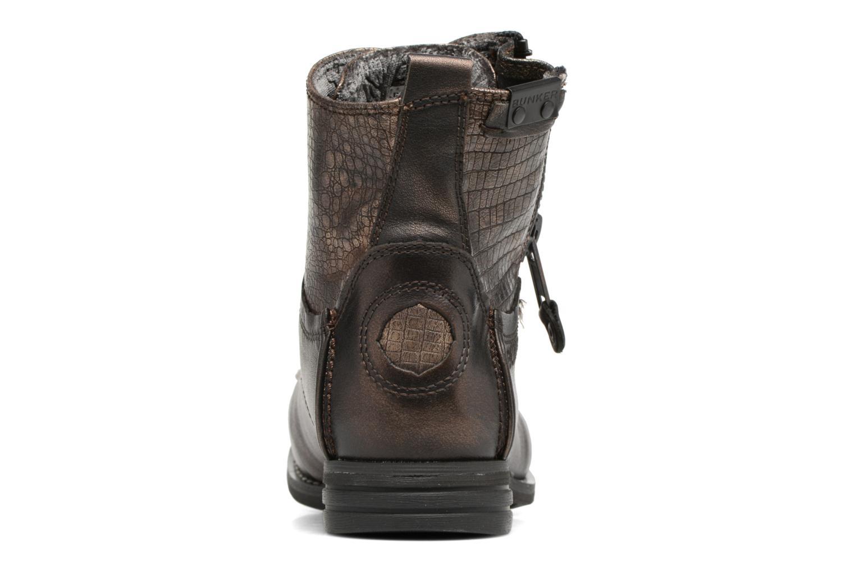 Bottines et boots Bunker Sara zip Or et bronze vue droite