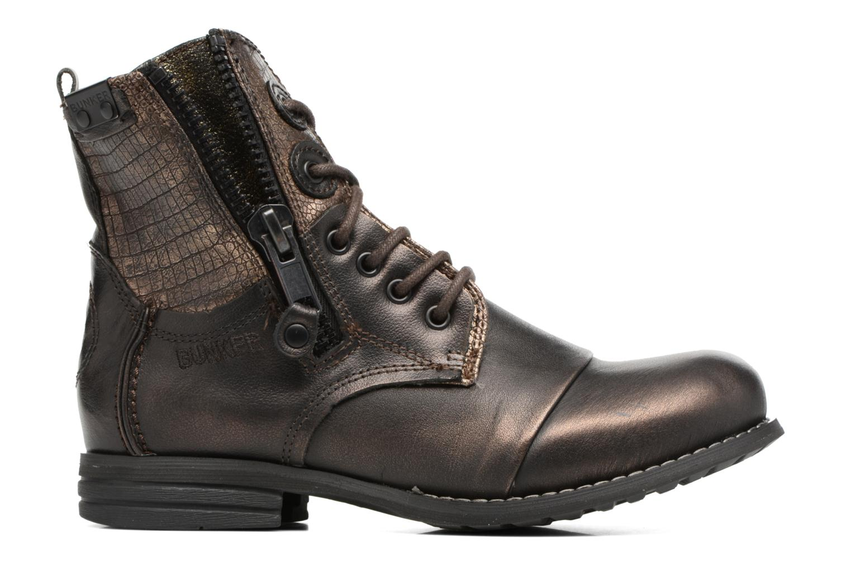 Bottines et boots Bunker Sara zip Or et bronze vue derrière