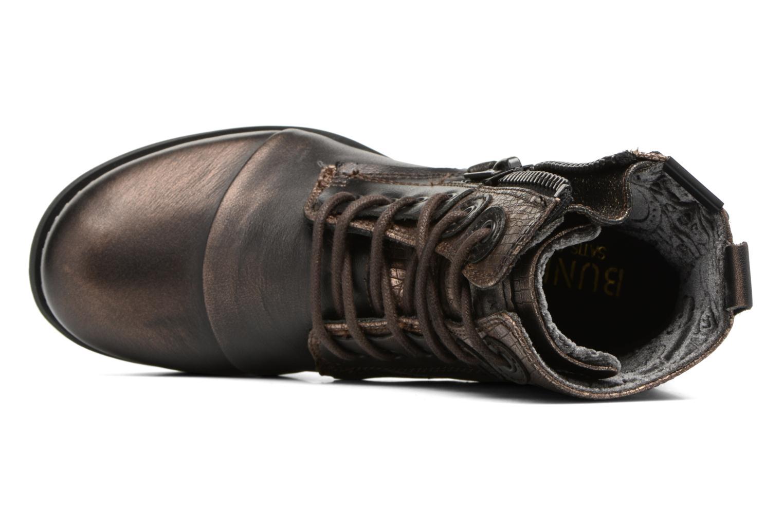 Bottines et boots Bunker Sara zip Or et bronze vue gauche