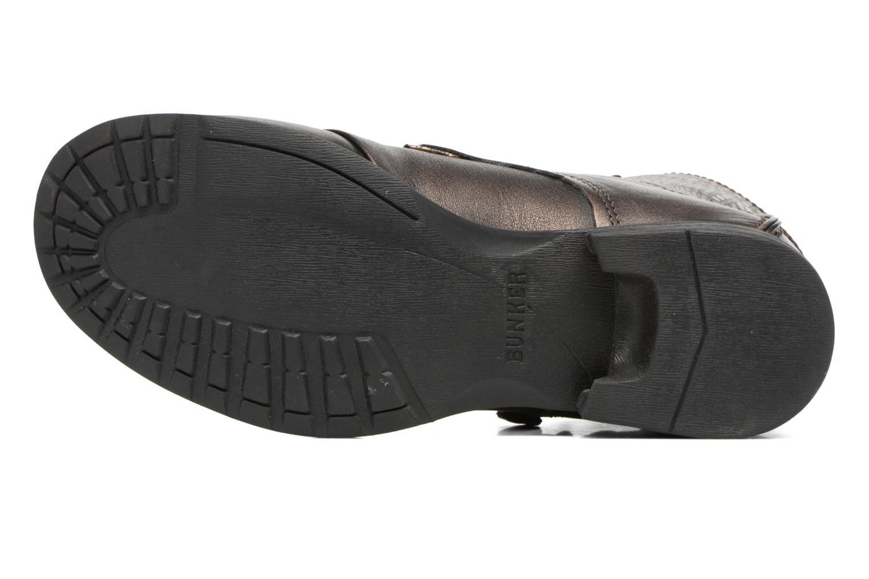 Bottines et boots Bunker Sara zip Or et bronze vue haut