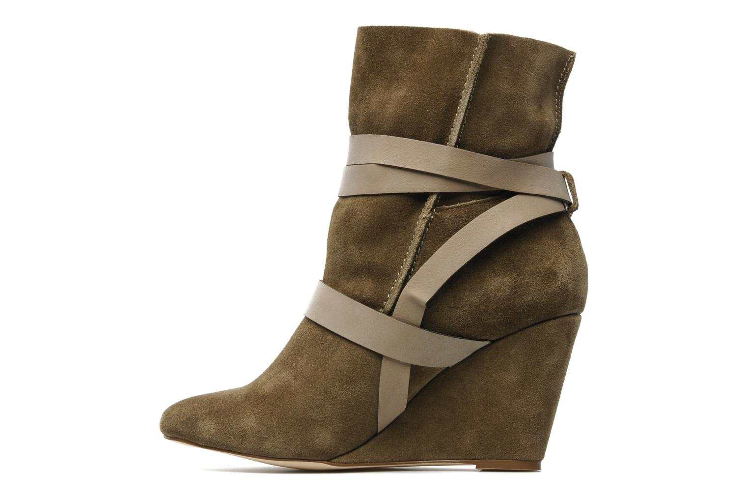 Ankle boots Chocolate Schubar Gis Green front view