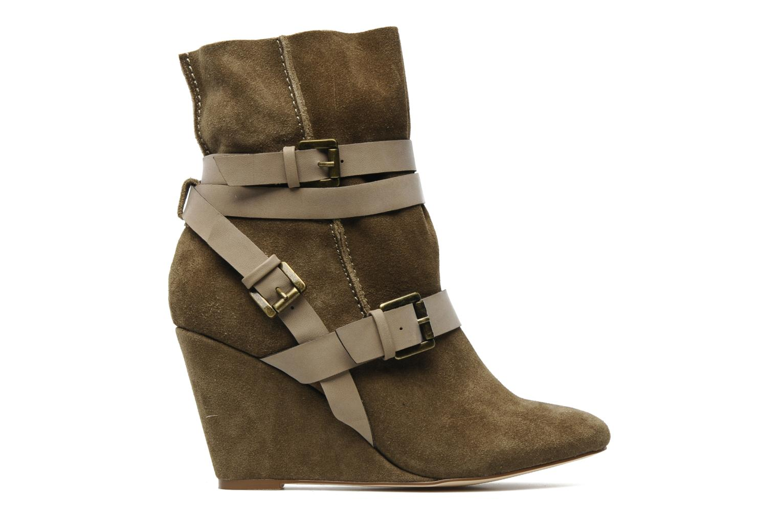 Ankle boots Chocolate Schubar Gis Green back view