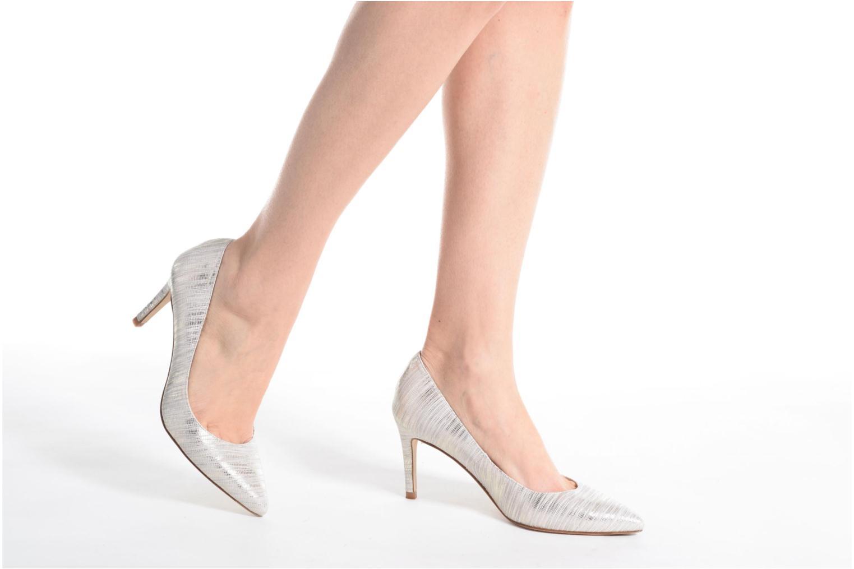 High heels L.K. Bennett Floret Blue view from underneath / model view