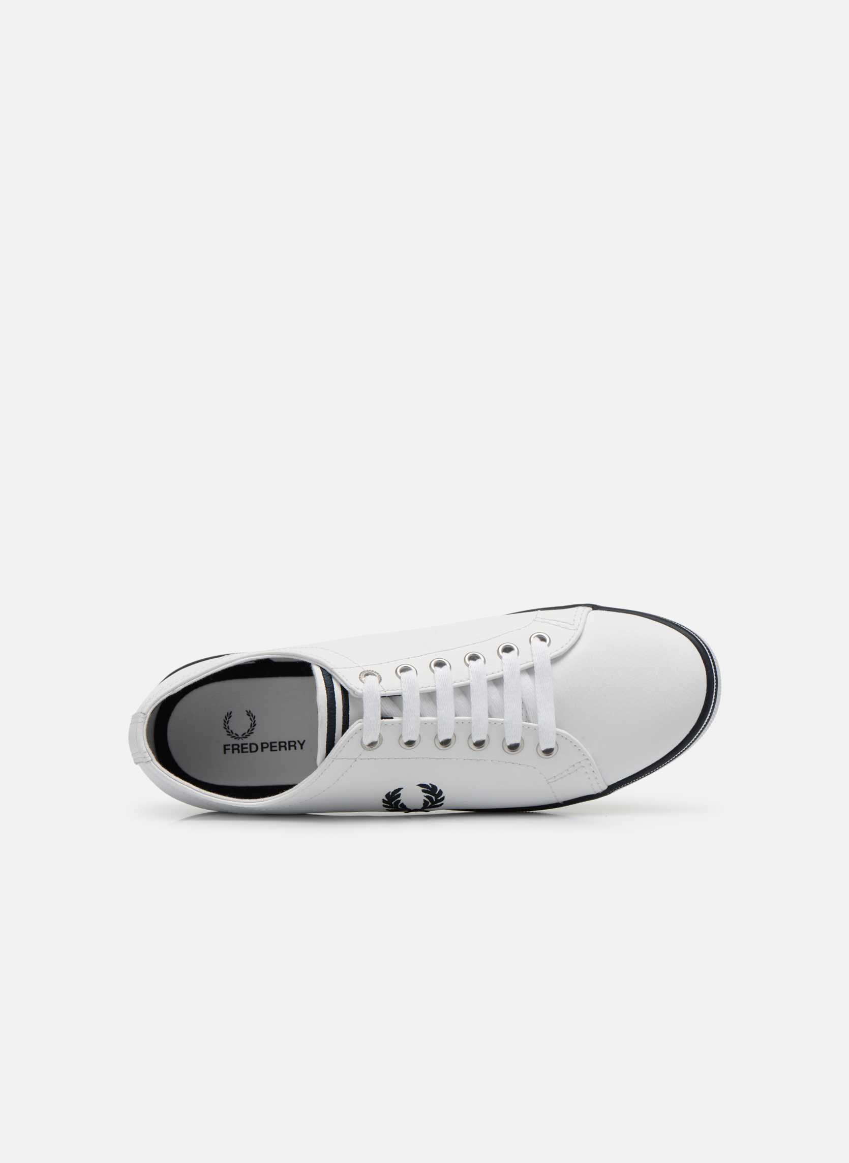 White 183 Fred Perry Kingston Leather (Blanc)