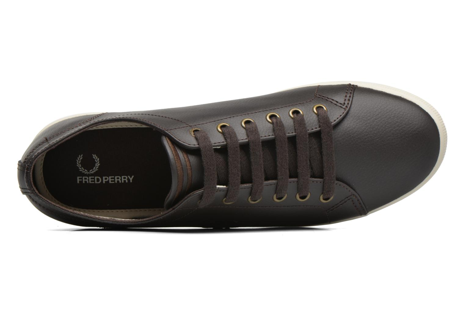 Sneaker Fred Perry Kingston Leather braun ansicht von links