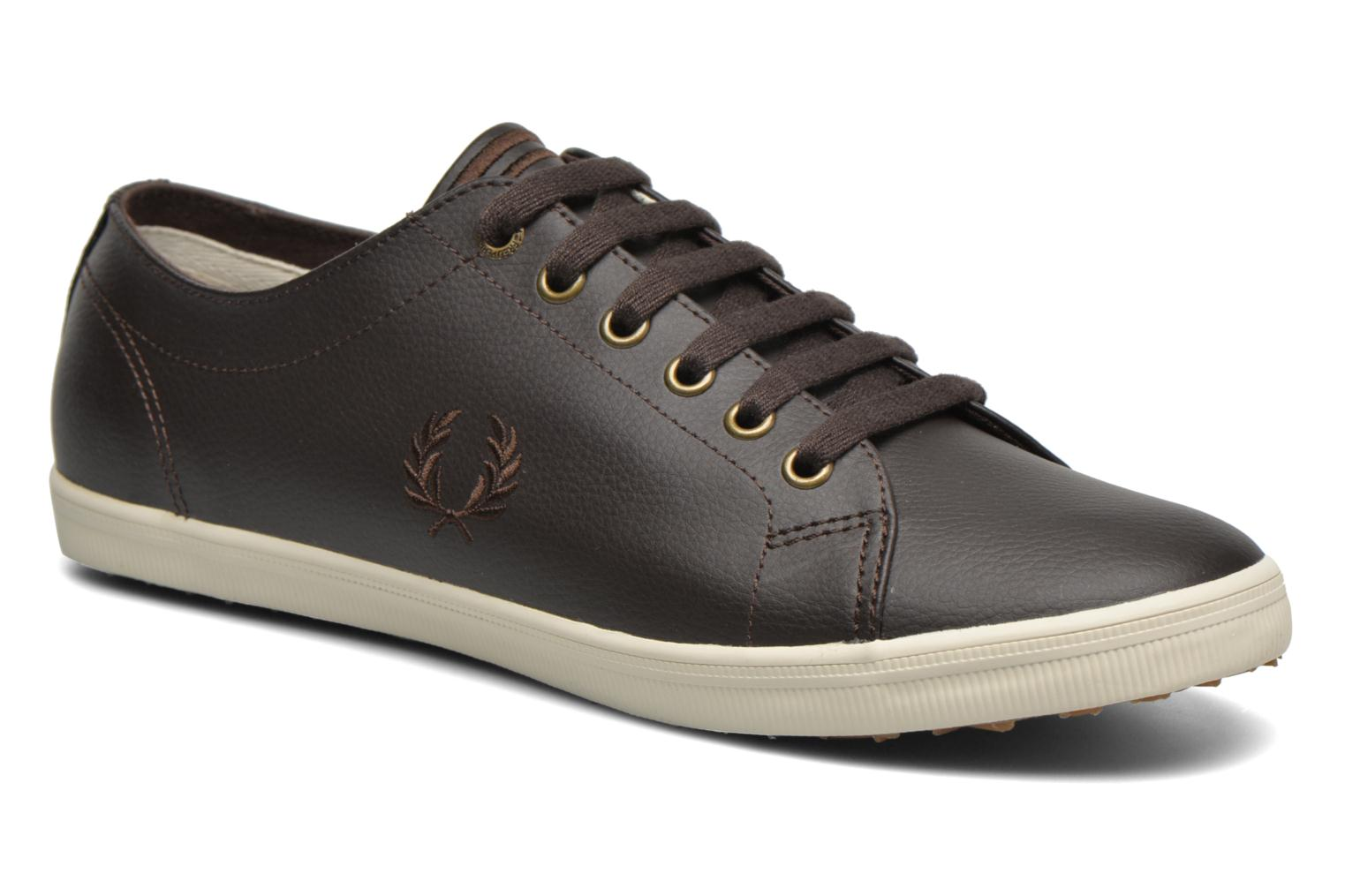 Baskets Fred Perry Kingston Leather Marron vue détail/paire