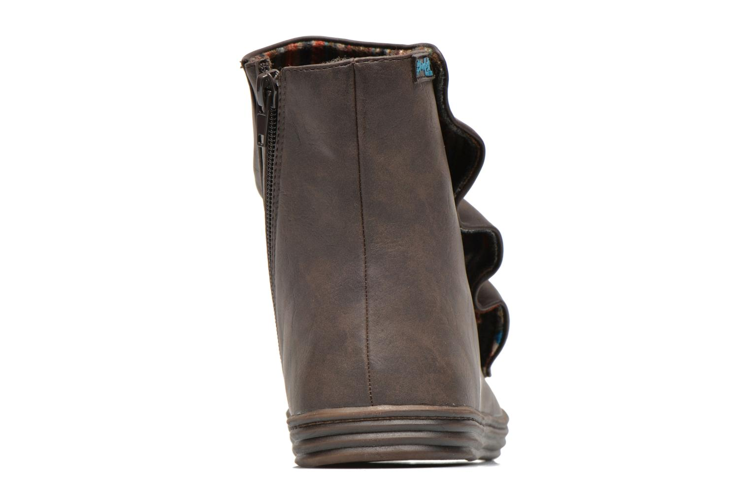 Ankle boots Blowfish Rabbit Brown view from the right