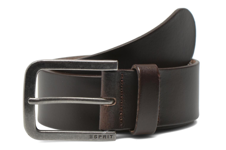 Riemen Esprit Zilan Leather Belt 40mm Bruin detail