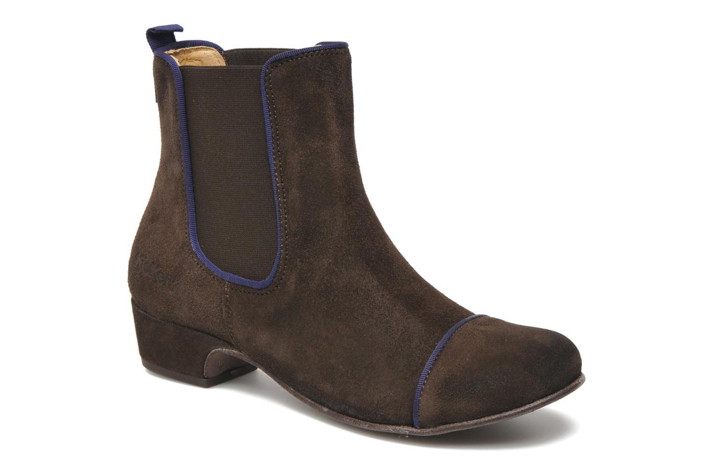 Boots en enkellaarsjes Kickers GALLAGHER Bruin detail